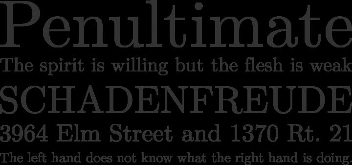 Latin Modern Roman Font Phrases