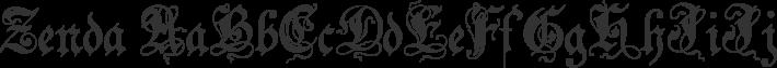 Zenda font family by Paul Lloyd