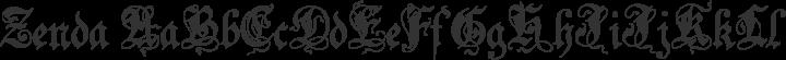 Zenda Regular free font