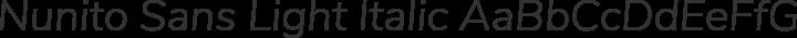 Nunito Sans Light Italic free font
