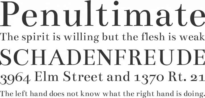 Bentham Font Phrases