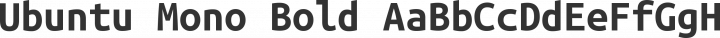 Ubuntu Mono Bold free font