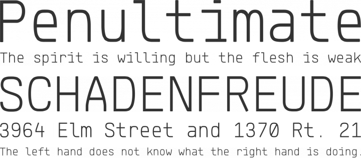 Klartext Mono Font Phrases