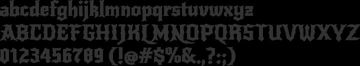 New Rocker Font Specimen