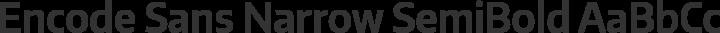 Encode Sans Narrow SemiBold free font