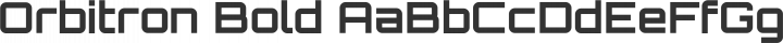 Orbitron Bold free font