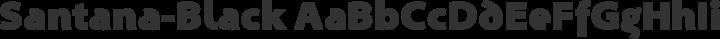 Santana-Black Regular free font