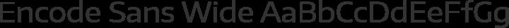 Encode Sans Wide Regular free font