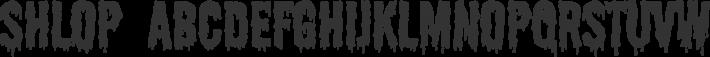 Shlop font family by Larabie Fonts