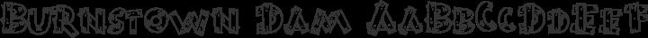 Burnstown Dam Regular free font