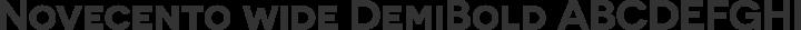 Novecento wide DemiBold free font