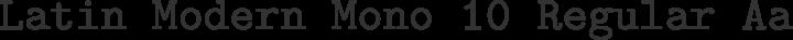 Latin Modern Mono 10 Regular free font