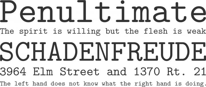Latin Modern Mono Font Phrases