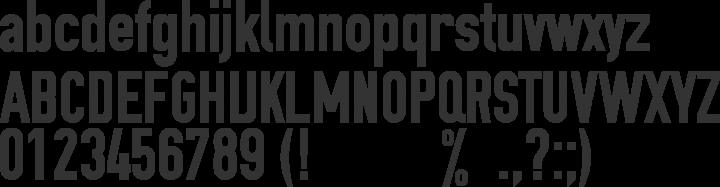 OSP DIN Font Specimen