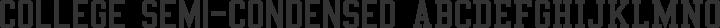 College Semi-condensed Regular free font