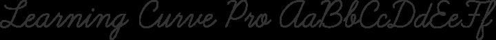 Learning Curve Pro Regular free font