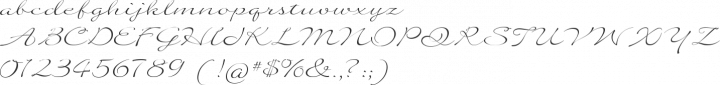 Quilline Script Thin Font Specimen