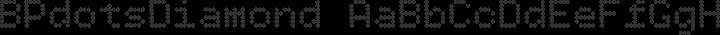 BPdotsDiamond Regular free font