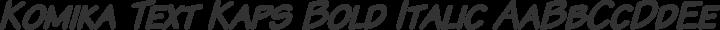Komika Text Kaps Bold Italic free font