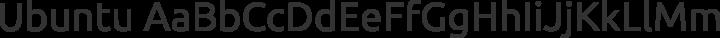 Ubuntu Regular free font