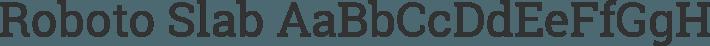 Roboto Slab font family by Christian Robertson