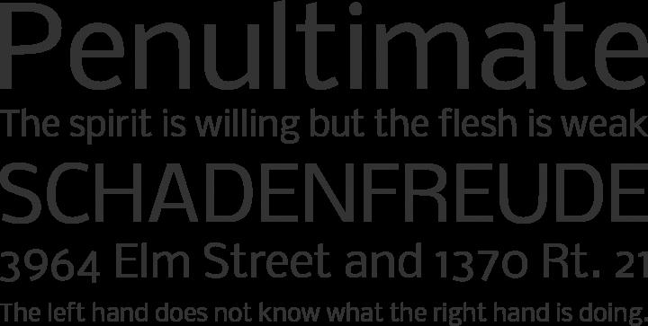 Nobile Font Phrases