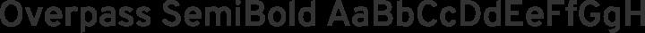 Overpass SemiBold free font