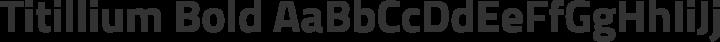 Titillium Bold free font