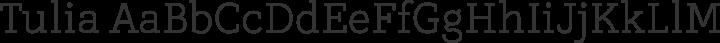 Tulia Regular free font