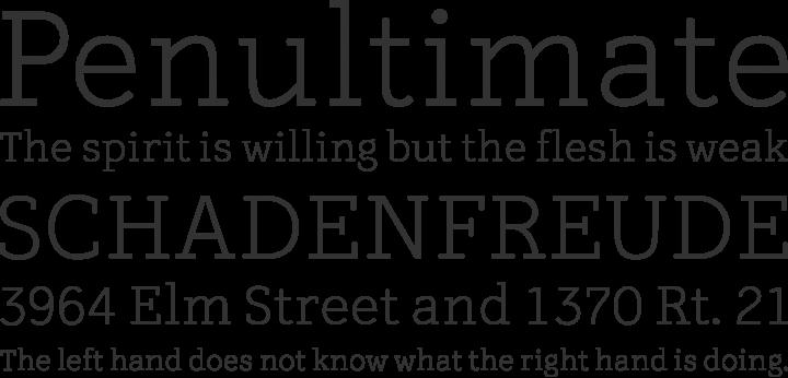 Tulia Font Phrases