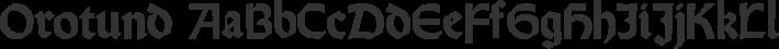 Orotund font family by Paul Lloyd