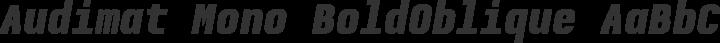 Audimat Mono BoldOblique free font