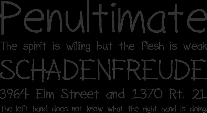SorbetLTD Font Phrases