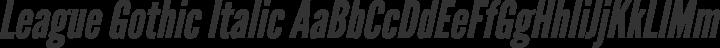 League Gothic Italic free font