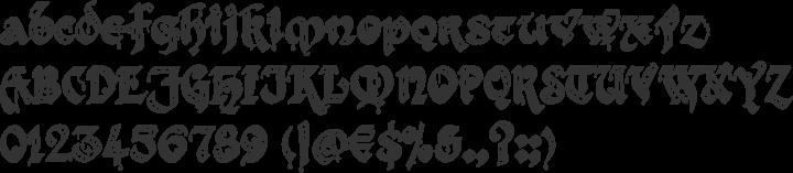 Kingthings Gothique Font Specimen
