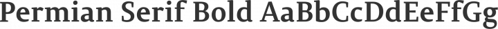 Permian Serif Bold free font