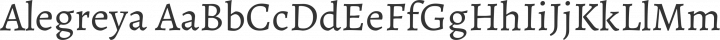 Alegreya Regular free font