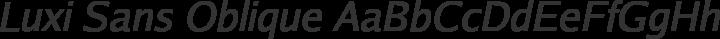 Luxi Sans Oblique free font