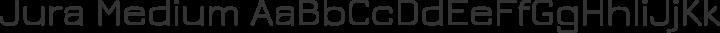 Jura Medium free font