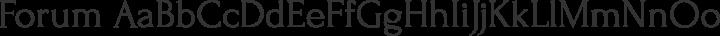 Forum Regular free font