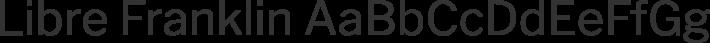 Libre Franklin font family by Impallari Type