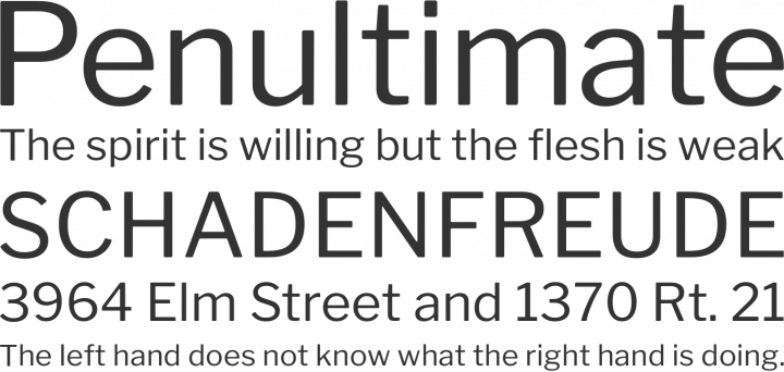 Libre Franklin Font Phrases