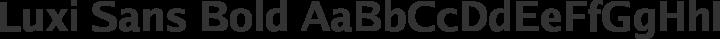 Luxi Sans Bold free font