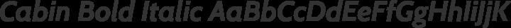 Cabin Bold Italic free font