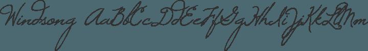 Windsong Regular free font
