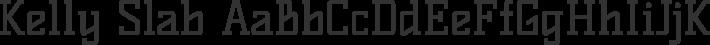 Kelly Slab font family by Denis Masharov