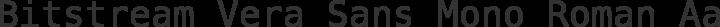 Bitstream Vera Sans Mono Roman free font