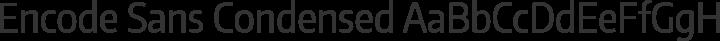 Encode Sans Condensed Regular free font