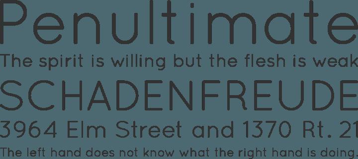 Quicksand Font Phrases