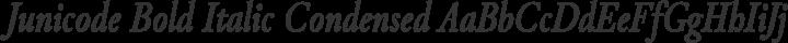 Junicode Bold Italic Condensed free font